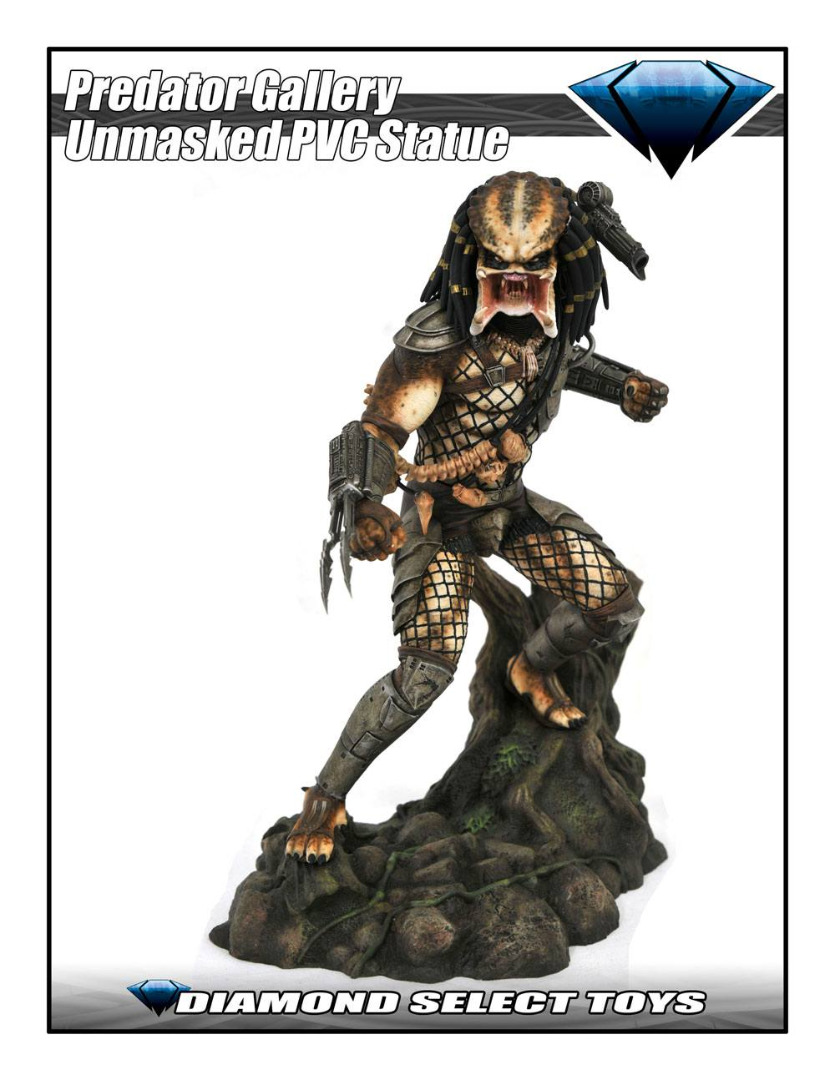 Predator Movie Gallery Statue Unmasked Predator SDCC 2020 Exclusive 23 cm