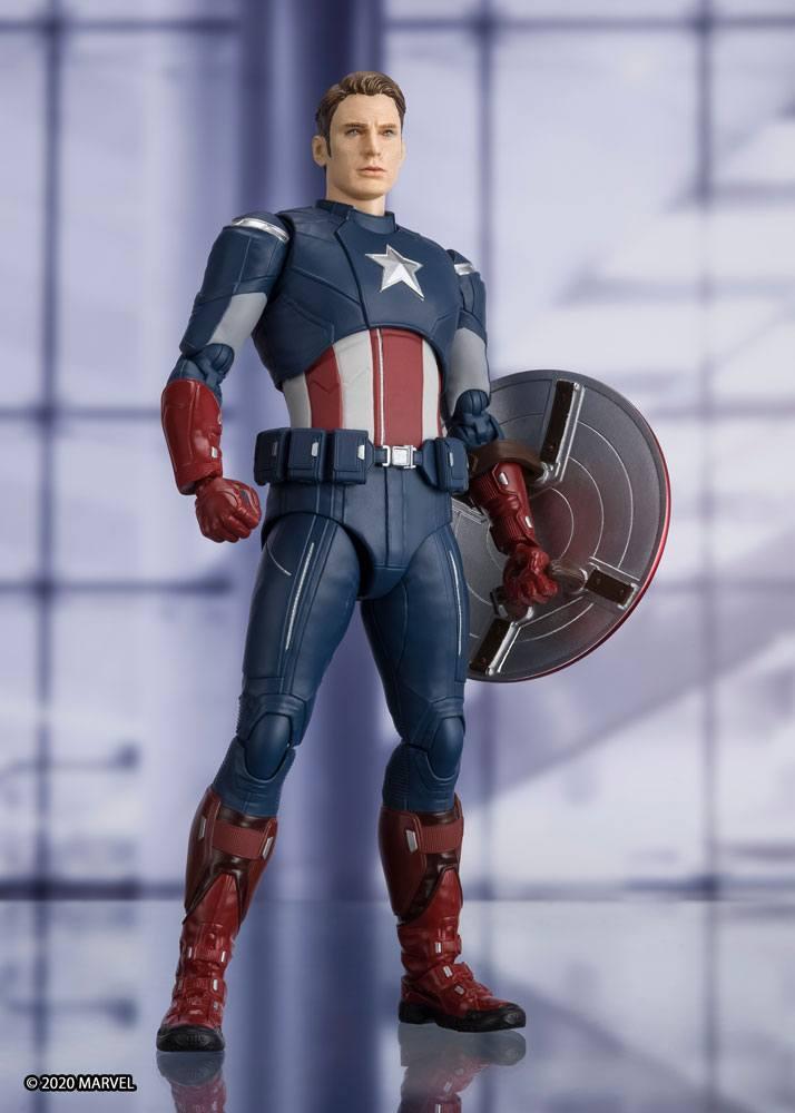 Avengers: Endgame S.H. Figuarts AF Captain America Cap VS Cap Edition 15 cm
