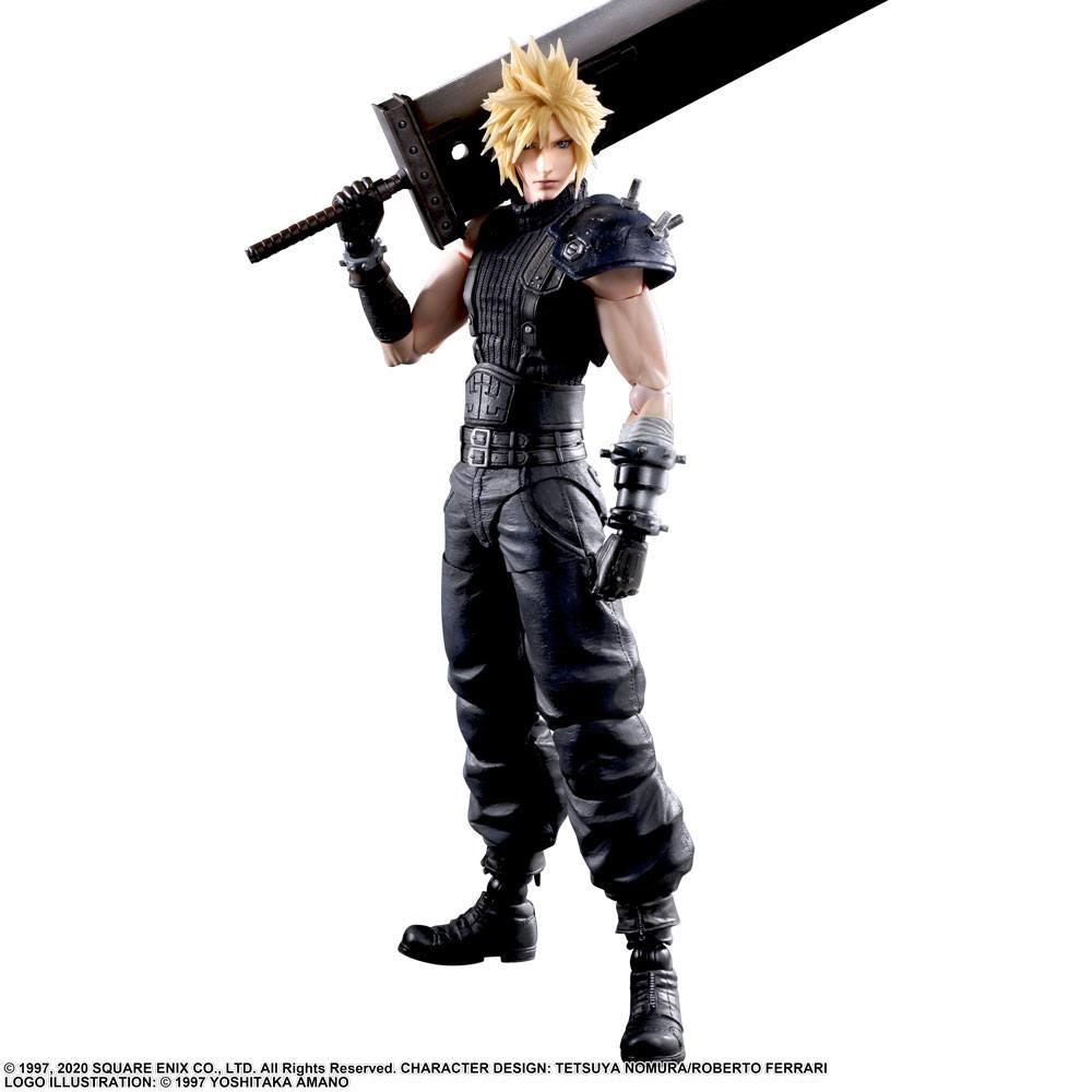 Final Fantasy VII Remake Play Arts Kai Action Fig Cloud Strife Ver.2  27 cm
