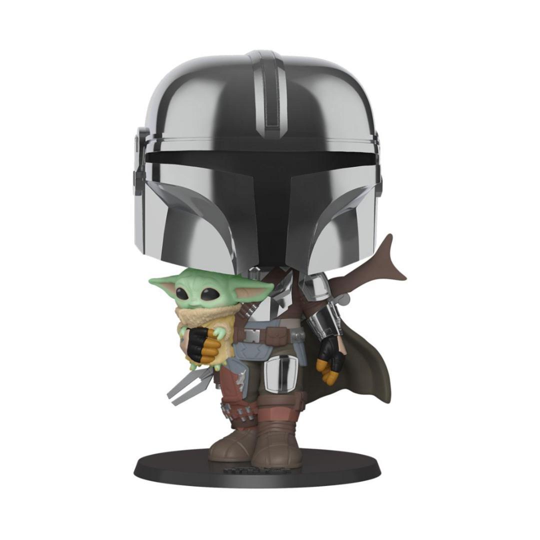 Super Sized POP! Star Wars The Mandalorian holding The Child 25 cm