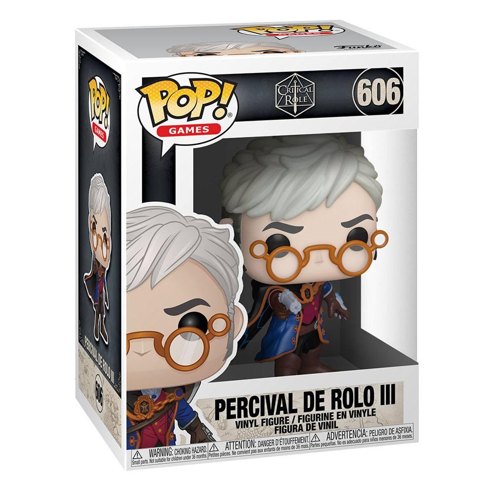 Critical Role Vox Machina POP! Games Vinyl Figure Percival de Rolo 10 cm