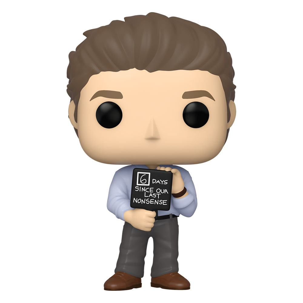 The Office US POP! TV Vinyl Figure Jim w/Nonsense Sign 10 cm