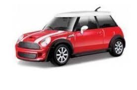 Mini Cooper S Scale 1:43 (Red-White/Vermelho-Branco)