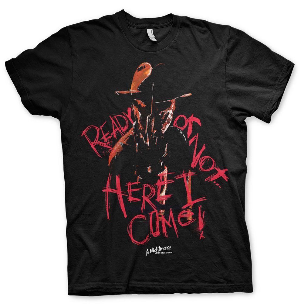 T-Shirt Nightmare on Elm Street Here I Come Tamanho M