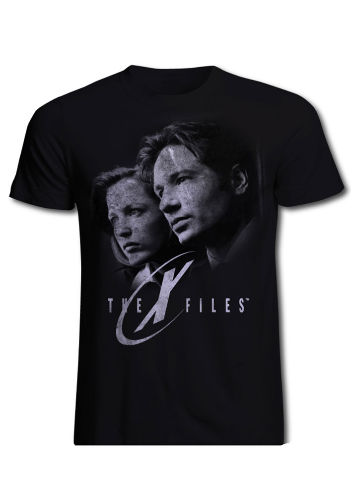 T-Shirt The X-Files Mulder & Scully Tamanho L