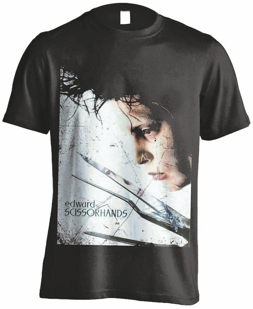 T-Shirt Edward Scissorhands Profile Poster Tamanho L