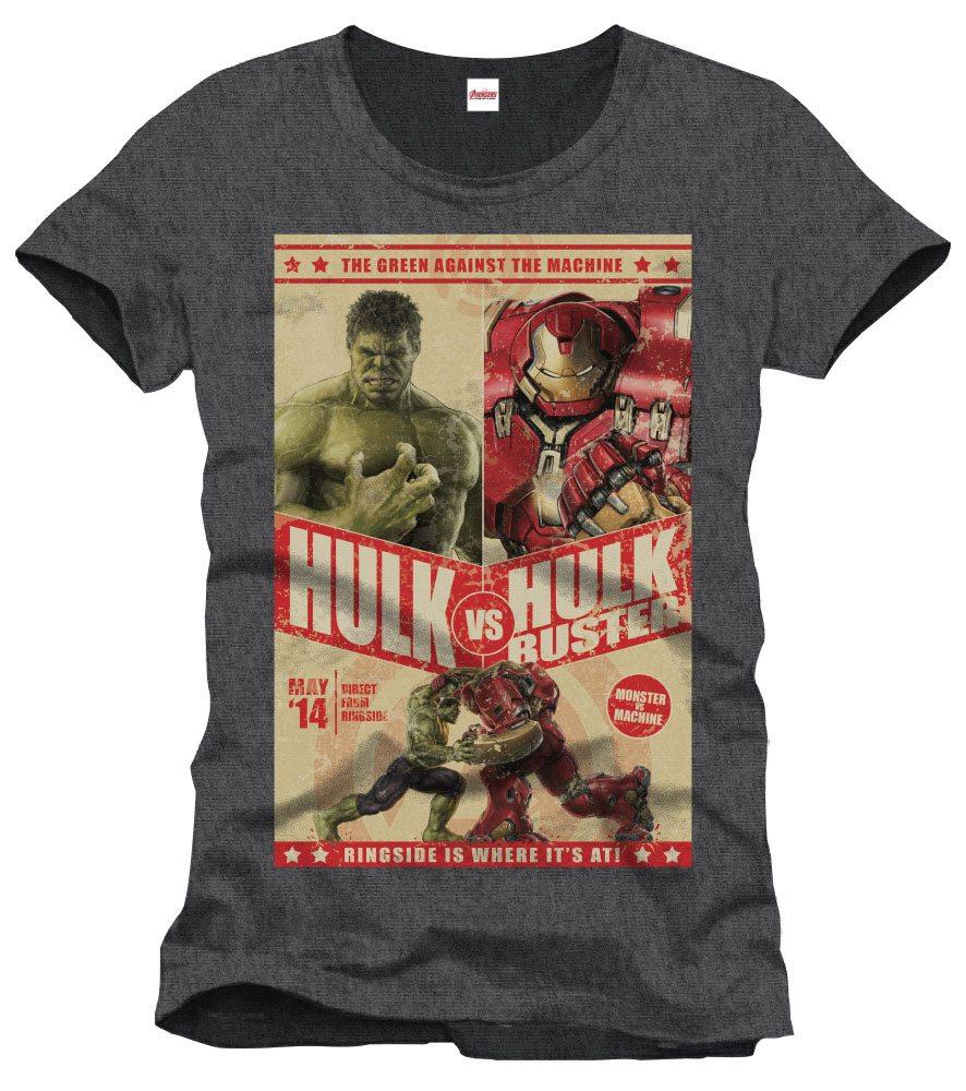T-Shirt Marvel Avengers Hulk Vs Hulkbuster Tamanho M