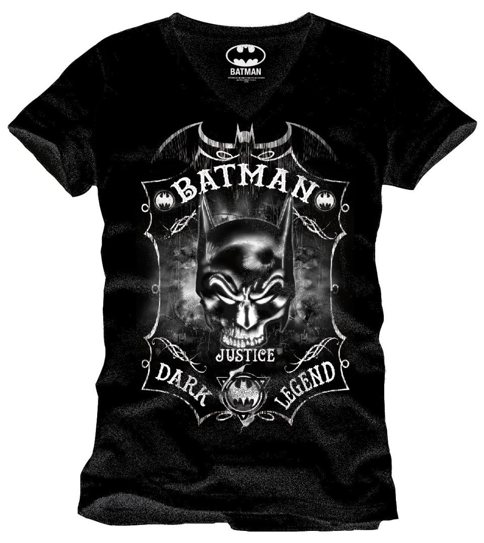 T-Shirt Batman Skull Bat Tamanho XL