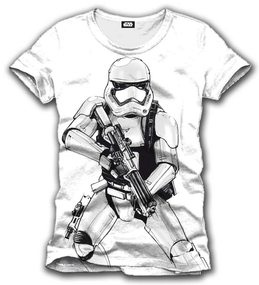 T-Shirt Star Wars Episode VII Stormtrooper Tamanho XL