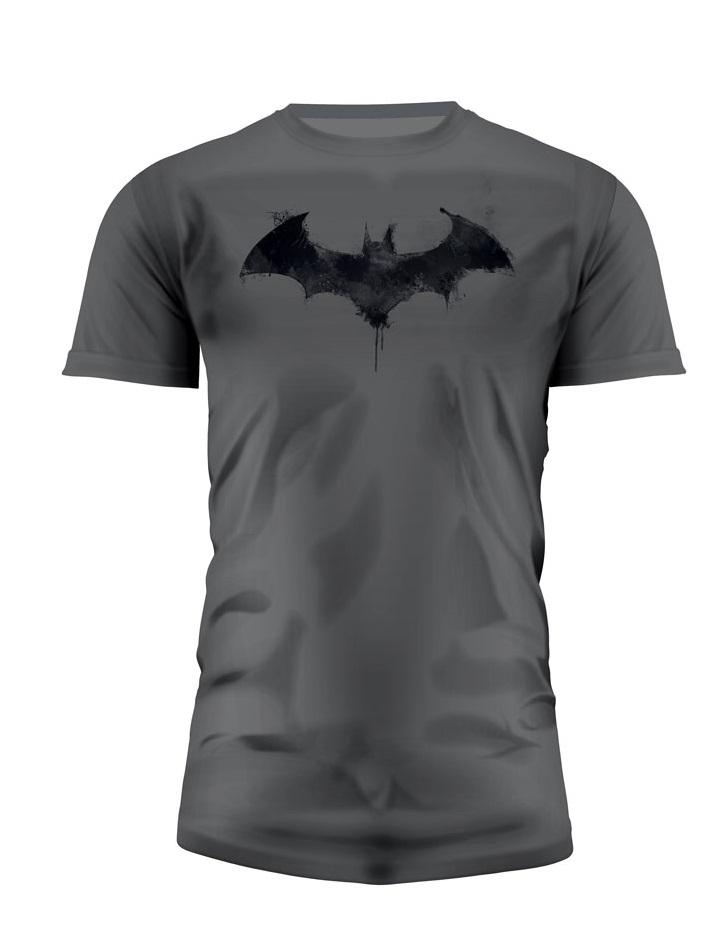 T-Shirt Batman Graphics Logo Grey Tamanho L