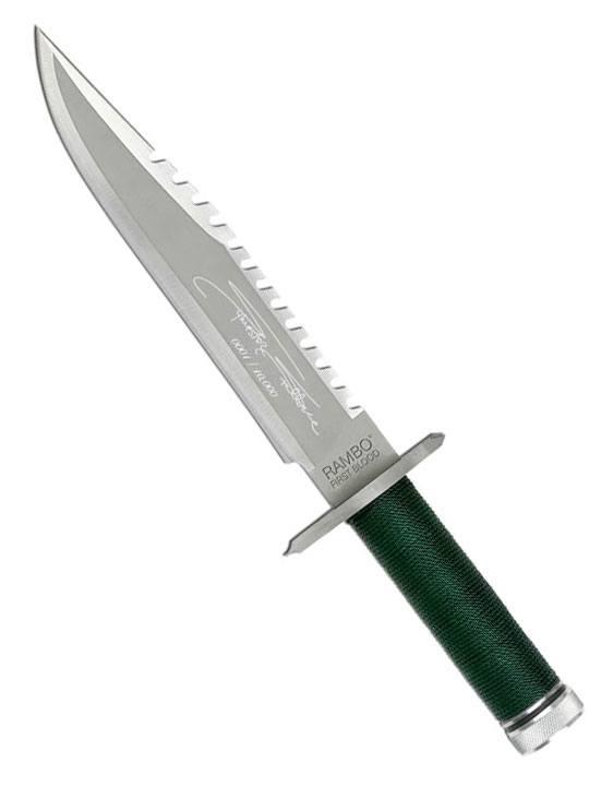 Rambo Replica 1/1 John Rambo Knife Sylvester Stallone Signature Edit. 36 cm