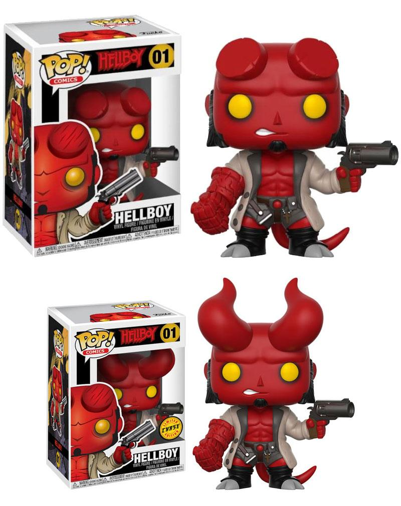 Pop! Comics: Hellboy - Hellboy with Jacket + Chase Vinyl Figure 10 cm
