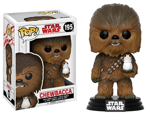 Pop! Bobble: Star Wars: E8 The Last Jedi: Chewbacca w/ Porg 10 cm
