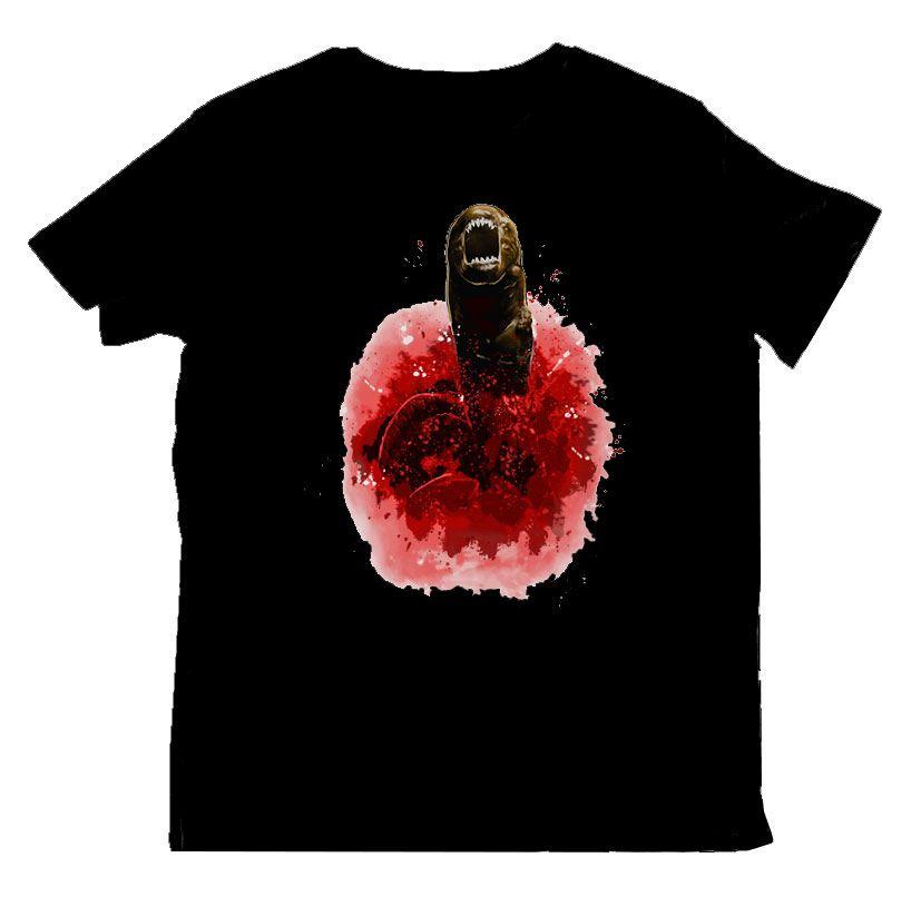 T-Shirt Alien Chestburster Tamanho XL