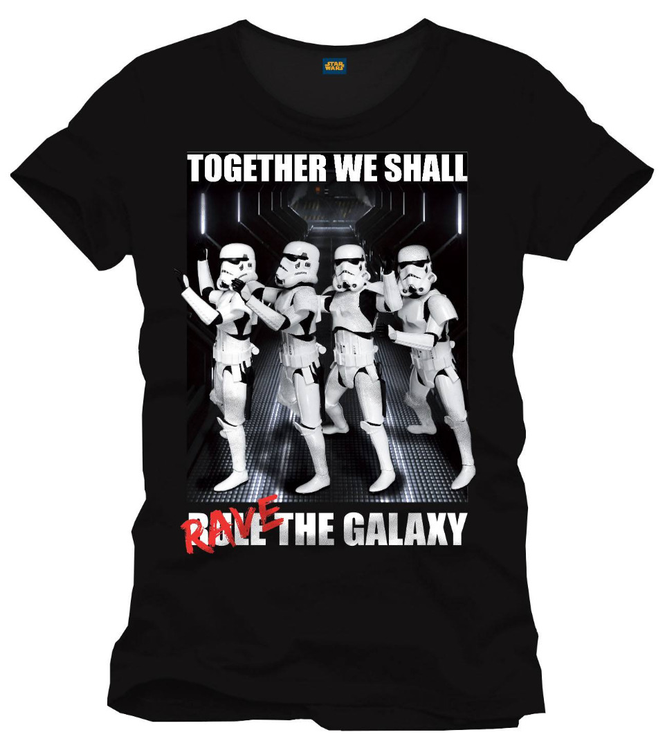 T-Shirt Star Wars Rave The Galaxy Tamanho L