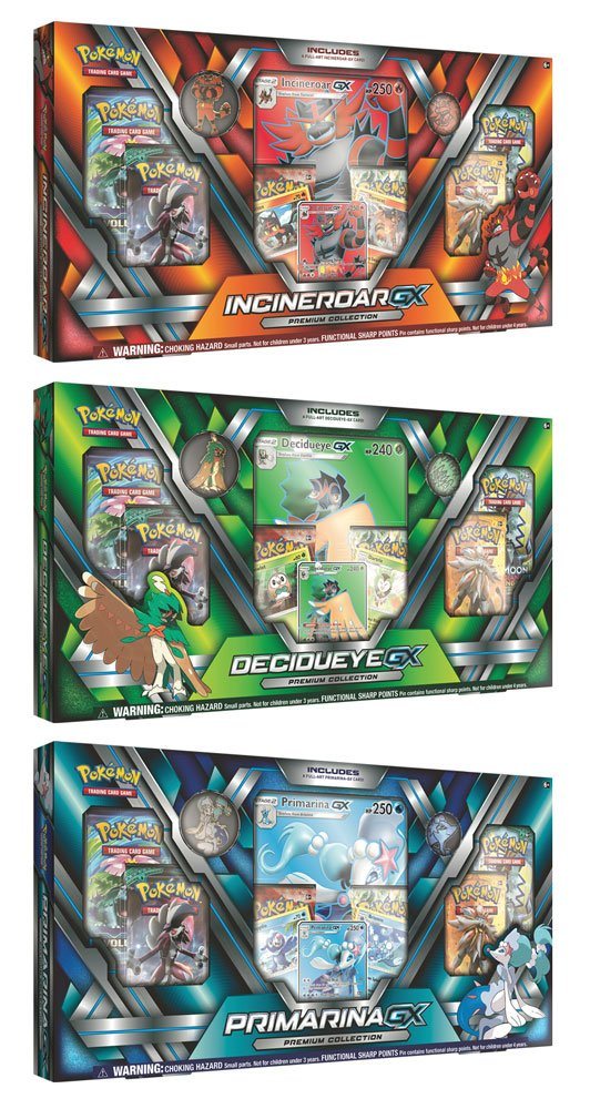 Pokemon Decidueye-GX/Incineroar-GX/Primarina-GX - Premium Collection