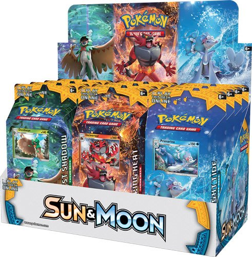 Pokemon Sun and Moon 1 Theme Deck Display (12) English Version