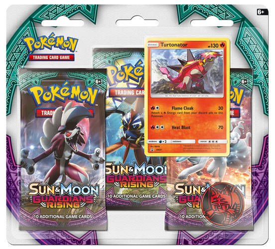 Pokemon Sun and Moon 2 Guardians Rising 3 Pack Blister Display (24)