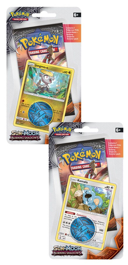 Pokemon Sun and Moon 3 Burning Shadows Checklane Blister Display (16)