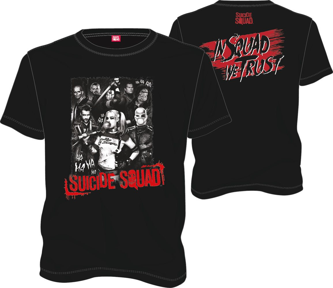 T-Shirt DC Suicide Squad Group Ha Ha Ha Tamanho S