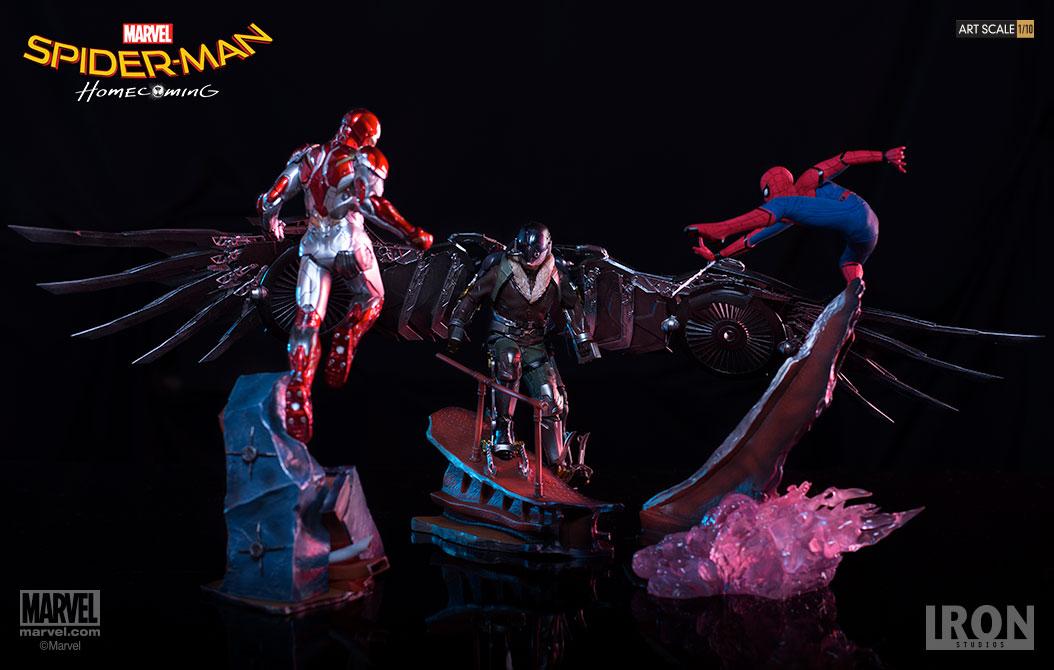 Marvel: Spider-Man Homecoming Battle Diorama Series 3 Piece Statue Set