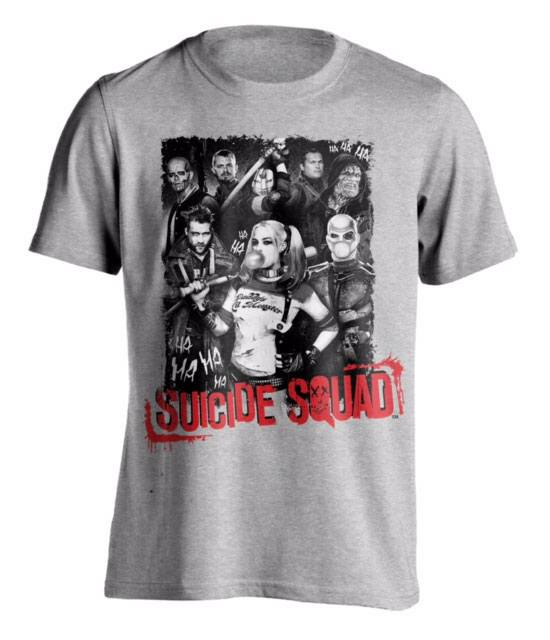 T-Shirt Suicide Squad HA HA Squad Tamanho S