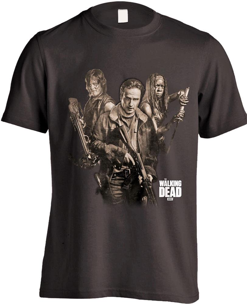 T-Shirt The Walking Dead 3 Survivors Tamanho S