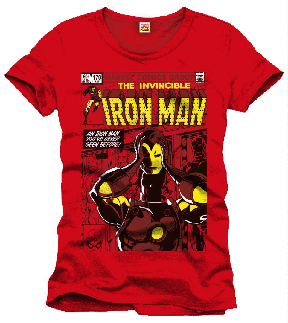T-Shirt Marvel Iron Man Never Seen Before Tamanho S