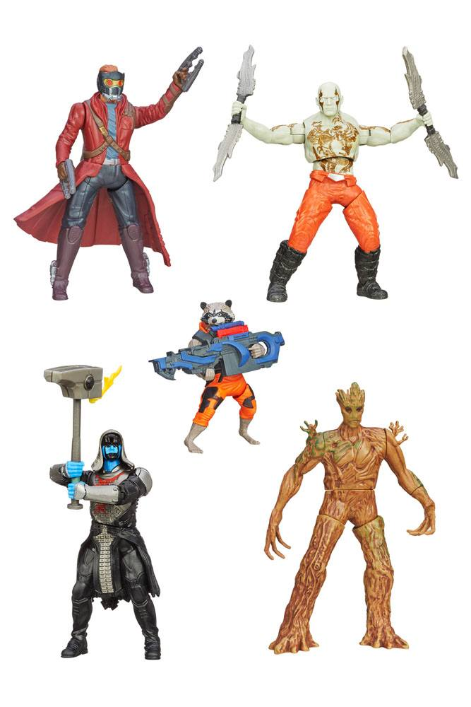 Guardians of the Galaxy Pack 5 Action Figures Rapid Revealers Wave 2 13 cm