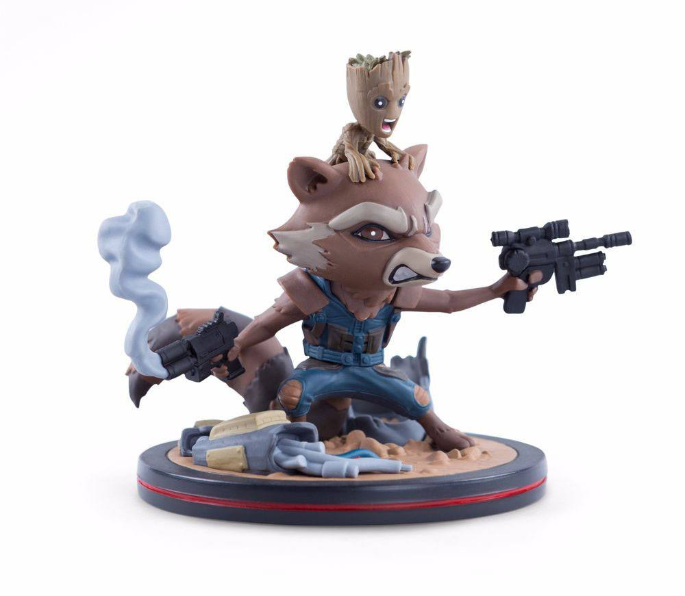 Guardians of the Galaxy Vol. 2 Q-Fig Figure Rocket & Groot LC Exclus. 14 cm