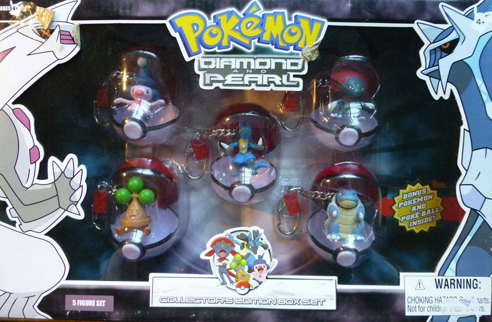 Pokemon Diamond and Pearl PVC Keychains 5-pack Collectors Edition