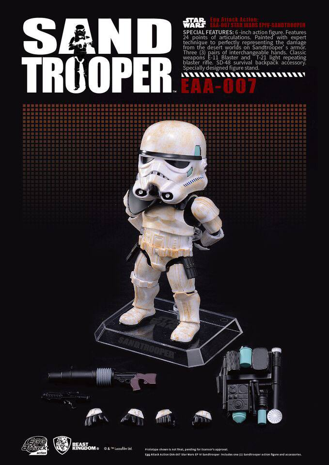 Star Wars Episode IV Egg Attack Action Figure Sandtrooper 15 cm