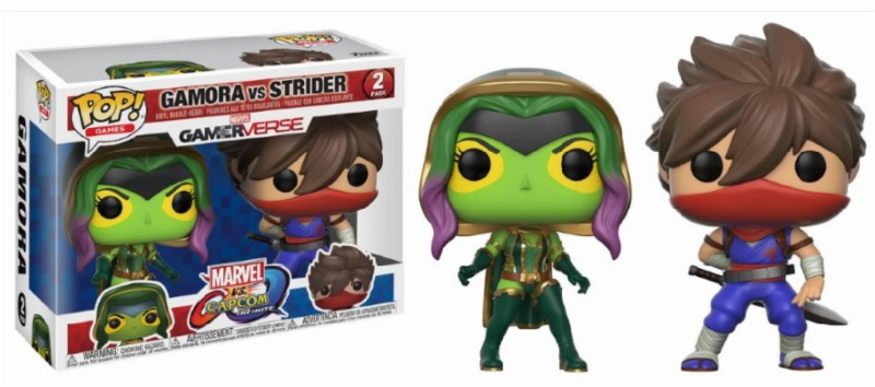 Pop! Marvel and Capcom: Gamora vs Strider 2-Pack Vinyl Figure 10 cm