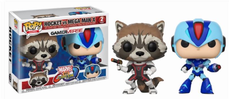 Pop! Marvel and Capcom: Rocket vs MegaMan X 2-Pack Vinyl Figure 10 cm