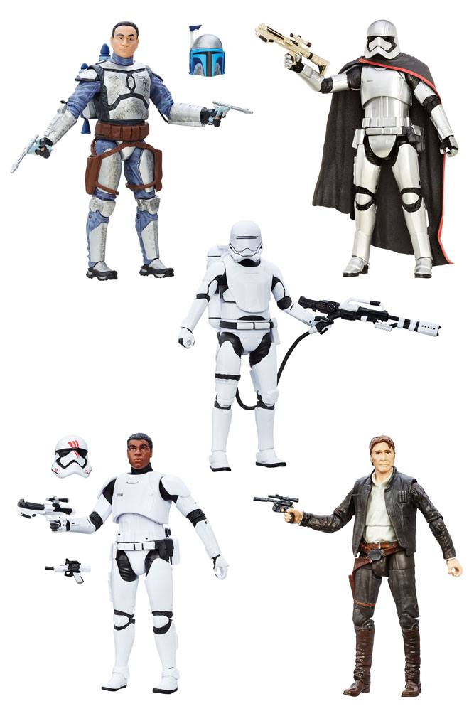 Star Wars Episode VII Black Series 5 Pack Action Figures 2016 Wave 1 15 cm