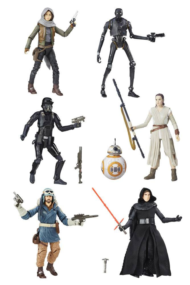 Star Wars Episode VII Black Series 6 Pack Action Figures  2016 Wave 3 15 cm