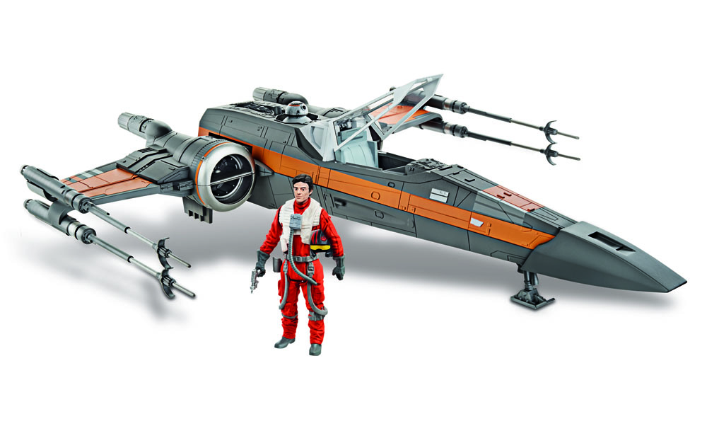 Star Wars Episode VII Class Vehicle with Figure 2015 Poe's X-Wing Fighter