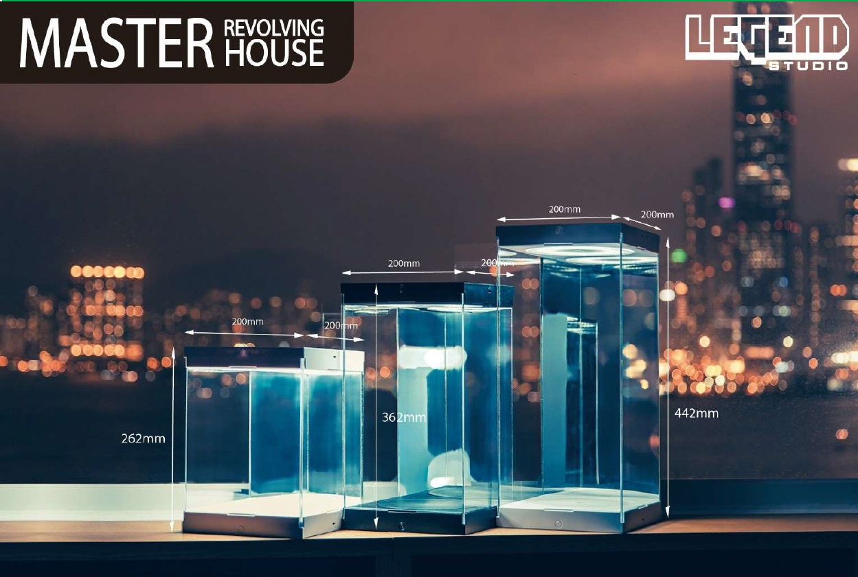 Master Revolving House: for 1:6 Scale Figures Black Version 44x20x20 cm