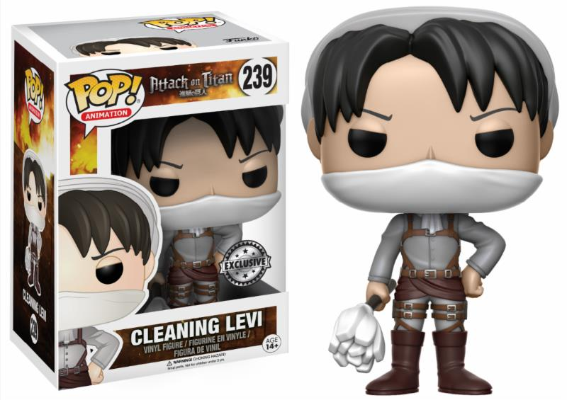 Pop! Anime: Attack on Titan - Cleaning Levi Limited Edition 10 cm