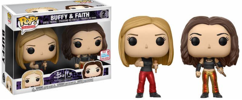 Buffy POP! TV Vinyl Figures 2-Pack Buffy & Faith NYCC 2017 Vinyl Figure