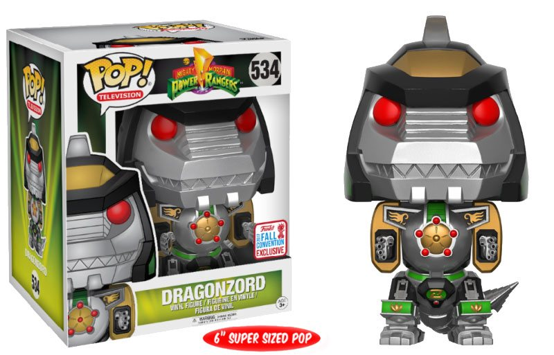 Power Rangers Super Sized POP! TV Vinyl Figure Dragonzord NYCC 2017