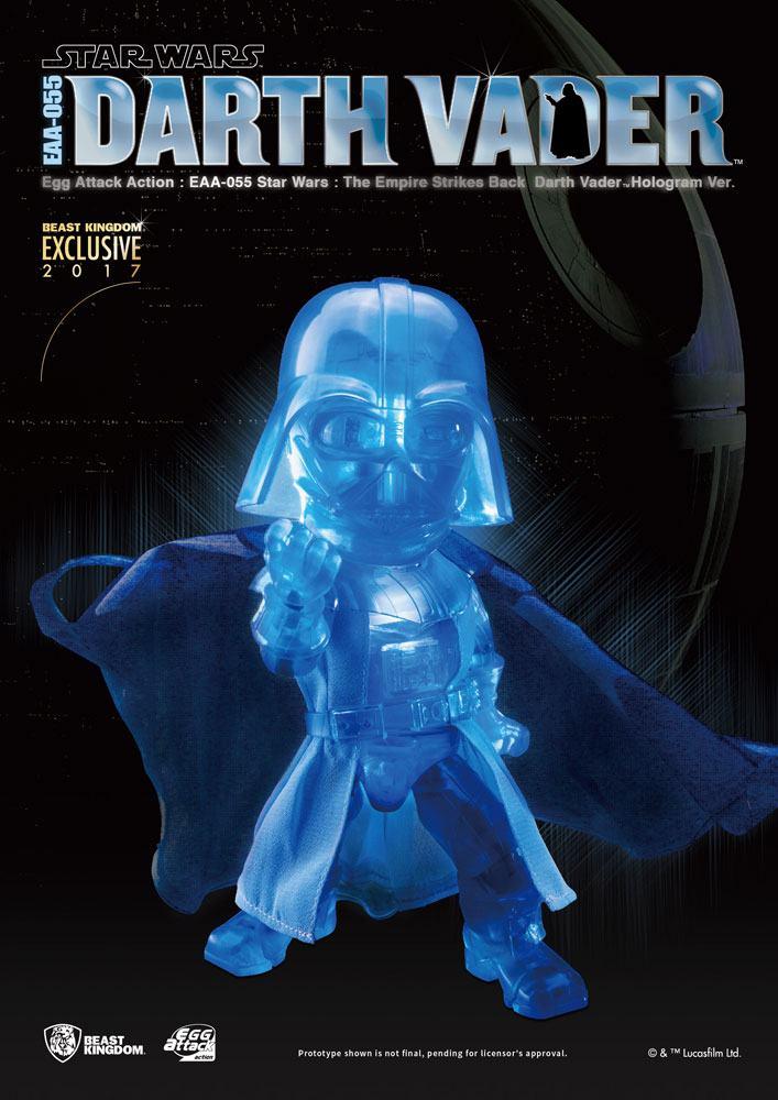 Star Wars Episode V Egg Attack Action Figure Darth Vader Hologram 17 cm