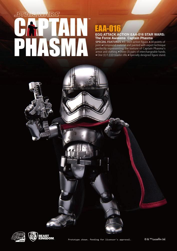Star Wars Episode VII Egg Attack Action Figure Captain Phasma 15 cm
