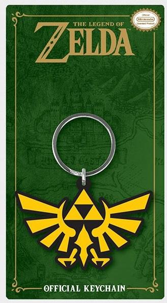 Porta-Chaves Legend of Zelda Rubber Triforce 6 cm