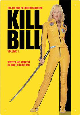 Sinalética Kill Bill Vol 1 Tin Sign 30 cm