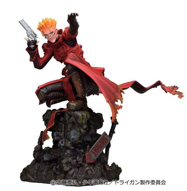 Trigun Badlands Rumble Statue 1/6 Vash The Stampede Attack Ver. 23 cm
