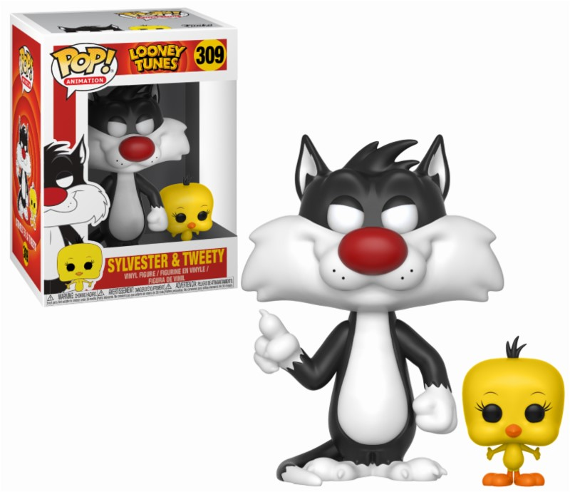 Pop! Cartoons: Looney Tunes - Vinyl Sylvester and Tweety Vinyl Figure 10 cm