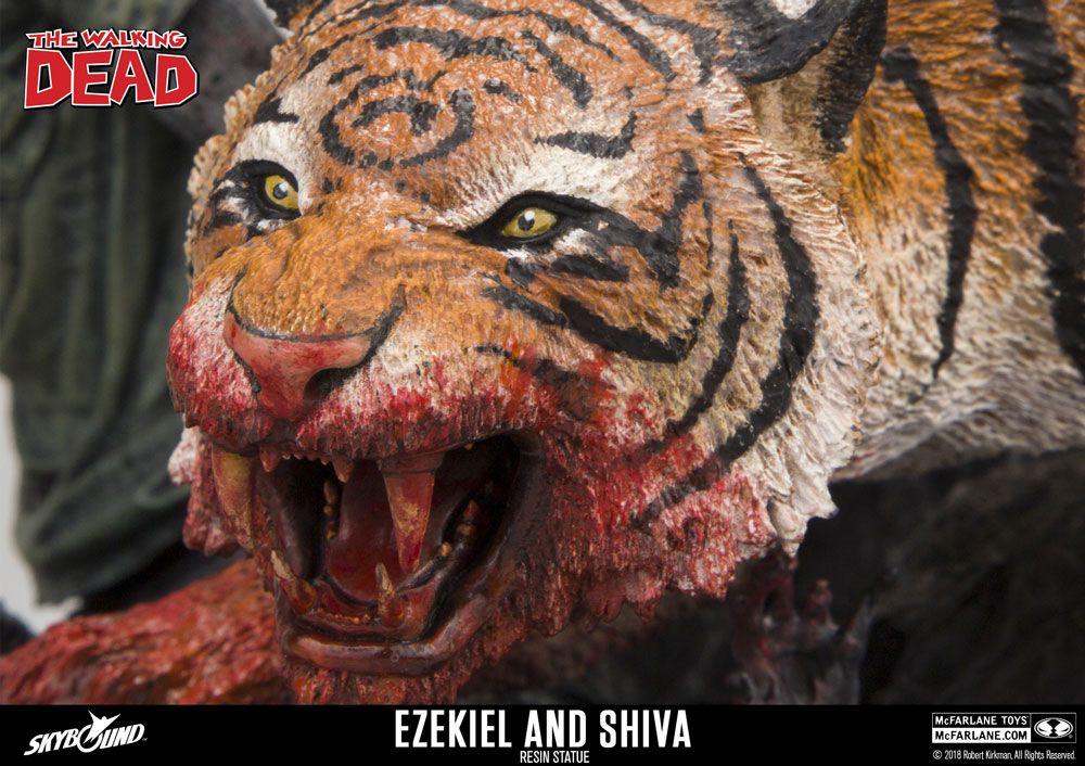 The Walking Dead Statue Ezekiel & Shiva 33 cm