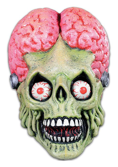 Mars Attacks Latex Mask Drone Martian