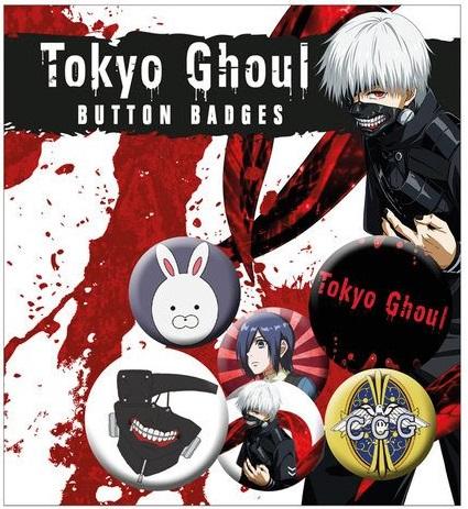 Conjunto de 6 Pins Tokyo Ghoul Pin Badges Mix